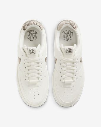 Nike AIR FORCE 1 Casual Style Unisex Street Style Plain Other Animal Patterns