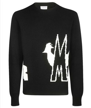MONCLER Wool Cashmere Logo Sweaters