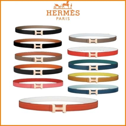 HERMES Formal Style  Casual Style Plain Leather Party Style