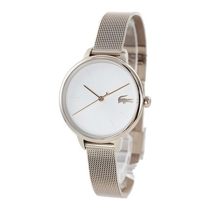 LACOSTE Round Casual Style Quartz Watches Stainless Office Style