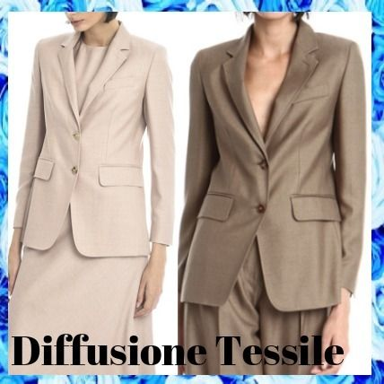 Formal Style  Casual Style Plain Office Style Jackets