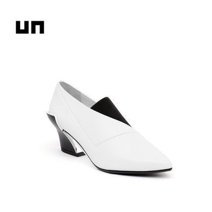 United Nude Casual Style Blended Fabrics Collaboration Plain Leather