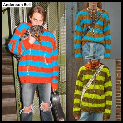ANDERSSON BELL Sweaters Unisex Street Style Long Sleeves Logo Sweaters
