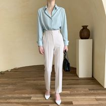 Casual Style Street Style Plain Long Office Style
