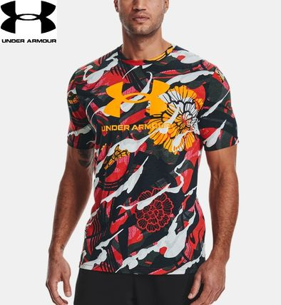 UNDER ARMOUR Crew Neck Crew Neck Cotton Short Sleeves Workout Crew Neck T-Shirts
