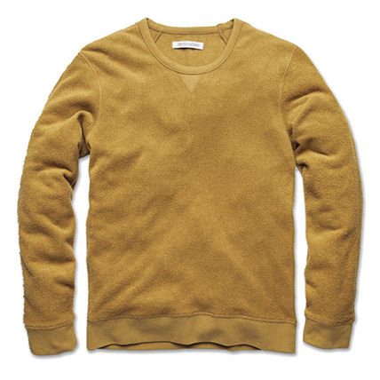 Outer known Sweatshirts Crew Neck Pullovers Unisex Long Sleeves Plain Cotton Logo 2