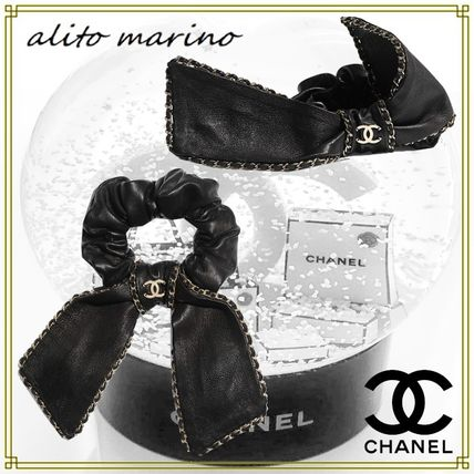 CHANEL Bridal Scrunchy Casual Style Office Style Elegant Style