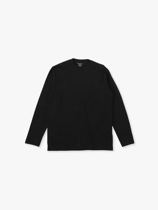 Ron Herman Crew Neck Long Sleeves Plain Cotton Long Sleeve T-shirt