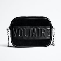 ZADIG & VOLTAIRE Casual Style Suede Plain Office Style Crossbody Logo