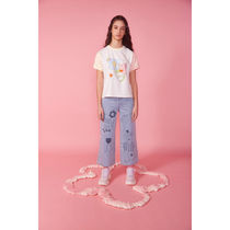 Kina and Tam Crew Neck Cotton Short Sleeves Icy Color T-Shirts