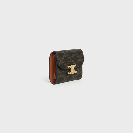 CELINE Triomphe Small Triomphe Wallet In Triomphe Canvas