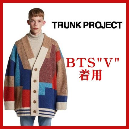 TRUNK PROJECT Unisex Wool Street Style Oversized Cardigans