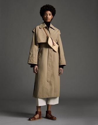 MONCLER MONCLER GENIUS Plain Long Logo Trench Coats