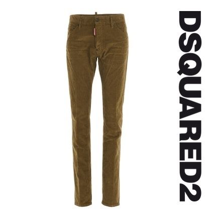 D SQUARED2 More Jeans Unisex Blended Fabrics Street Style Plain Jeans
