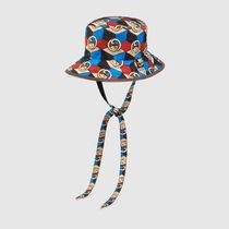 GUCCI Unisex Street Style Collaboration Wide-brimmed Hats