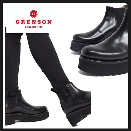 Grenson Wedge Wedge Platform Plain Toe Round Toe Rubber Sole Casual Style