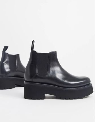 Wedge Platform Plain Toe Round Toe Rubber Sole Casual Style