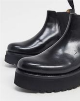 Grenson Wedge Wedge Platform Plain Toe Round Toe Rubber Sole Casual Style 5