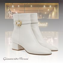 Gianvito Rossi Casual Style Leather Elegant Style Mid Heel Boots