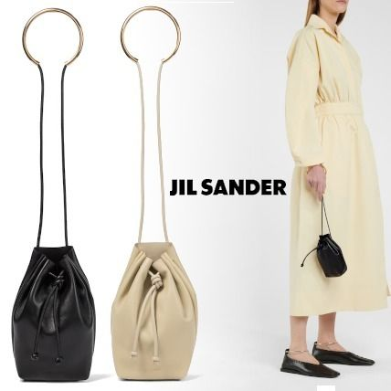 Jil Sander Casual Style Blended Fabrics Plain Leather Party Style