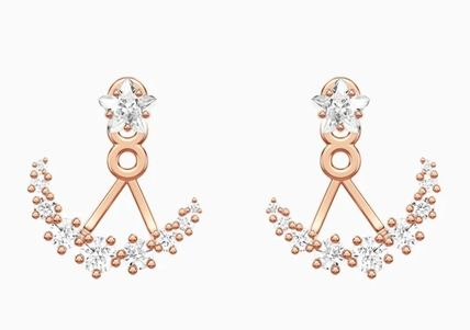 SWAROVSKI Casual Style Party Style Office Style Elegant Style Earrings