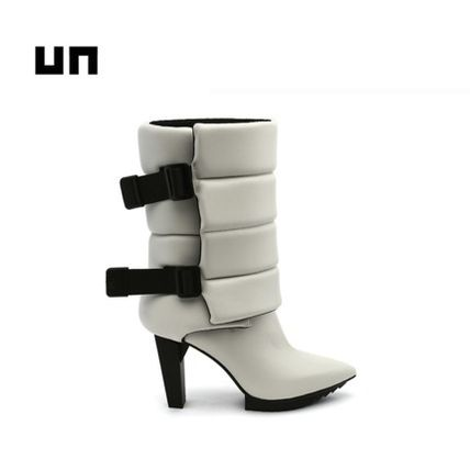 United Nude Casual Style Blended Fabrics Plain Leather High Heel Boots