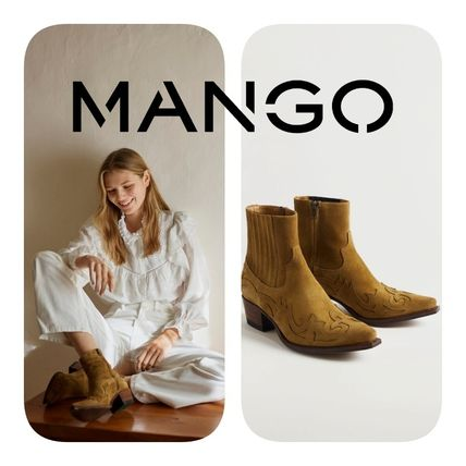 MANGO Casual Style Elegant Style Ankle & Booties Boots