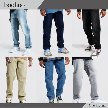 boohoo More Jeans Street Style Plain Cotton Jeans