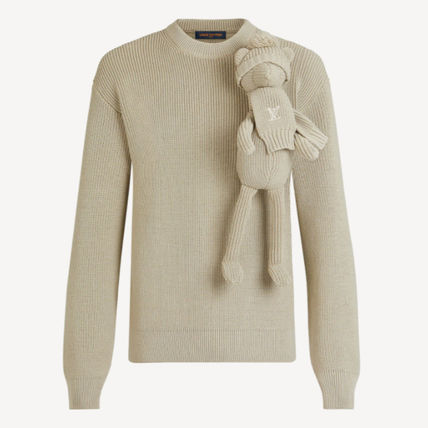 Louis Vuitton Sweaters Crew Neck Pullovers Unisex Blended Fabrics Street Style 3