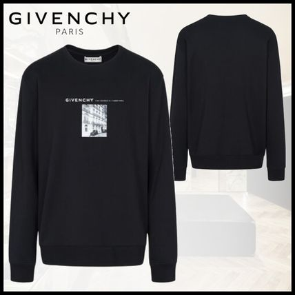 GIVENCHY Sweatshirts Crew Neck Pullovers Sweat Street Style Long Sleeves Cotton
