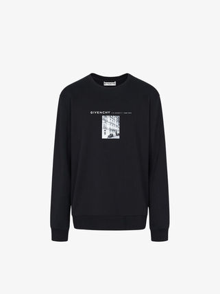 GIVENCHY Sweatshirts Crew Neck Pullovers Sweat Street Style Long Sleeves Cotton 2