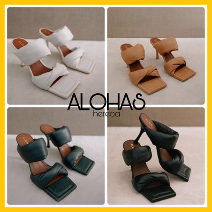 Casual Style Plain Leather Party Style Elegant Style Mules
