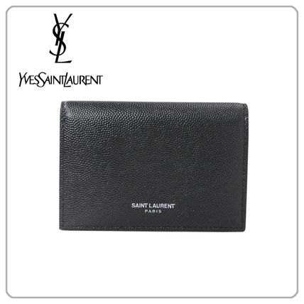Saint Laurent Leather Logo Card Holders