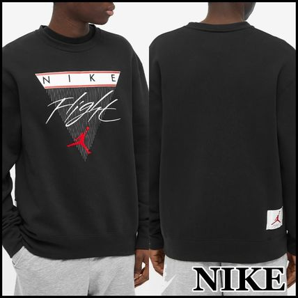 Nike Sweatshirts Crew Neck Pullovers Unisex Sweat Street Style Long Sleeves