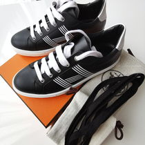 HERMES AVANTAGE Casual Style Street Style Leather Logo Low-Top Sneakers