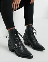 ALLSAINTS Lace-up Casual Style Street Style Plain Block Heels