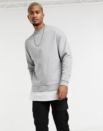 ASOS Crew Neck Sweat Street Style Long Sleeves Plain Cotton