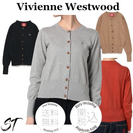 Vivienne Westwood Casual Style Street Style Long Sleeves Plain Cotton Medium