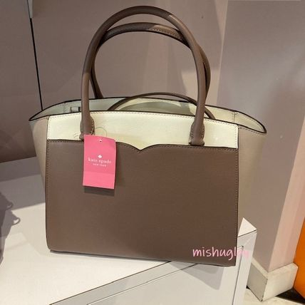 kate spade new york 2WAY Bi-color Leather Office Style Elegant Style