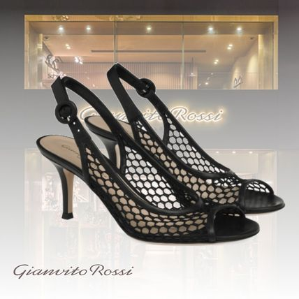 Gianvito Rossi Open Toe Casual Style Party Style Elegant Style Bridal
