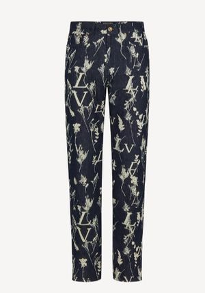 Louis Vuitton Printed Pants Cotton Jeans