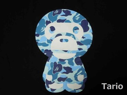 A BATHING APE Camouflage Cotton Short Sleeves Street Style T-Shirts