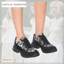 CECILIE BAHNSEN Flower Patterns Casual Style Leather Elegant Style