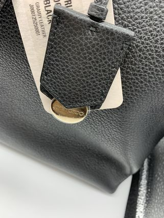 Jimmy Choo Unisex Leather Logo Totes