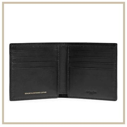 Coach Collaboration Leather Logo Folding Wallets