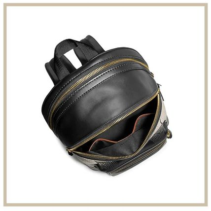 Coach Street Style Collaboration A4 Leather Logo Backpacks