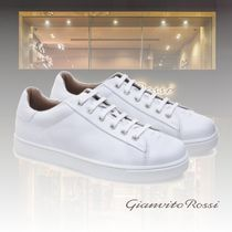 Gianvito Rossi Casual Style Leather Elegant Style Low-Top Sneakers