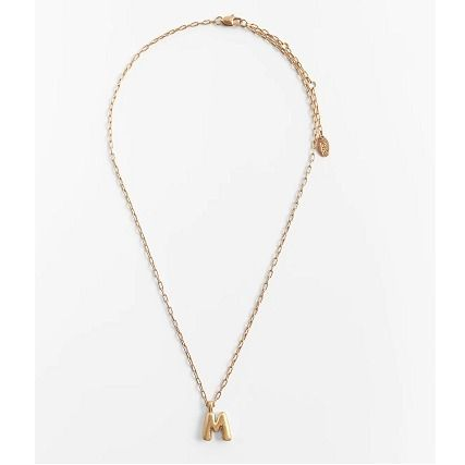 ZARA Casual Style Initial Chain Brass Necklaces & Pendants
