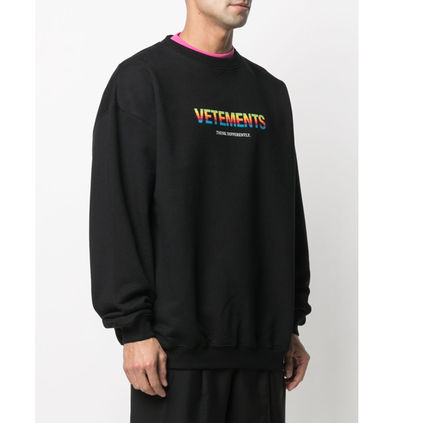VETEMENTS Crew Neck Pullovers Unisex Sweat Street Style Long Sleeves