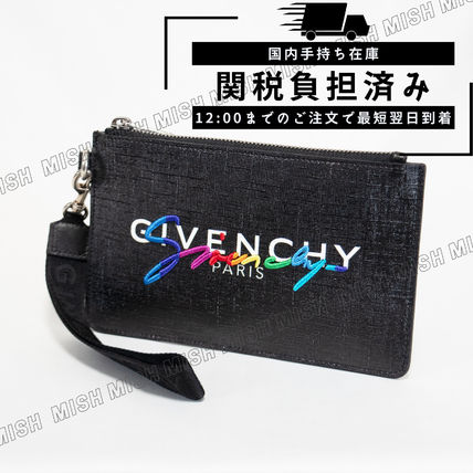 GIVENCHY PVC Clothing Logo Clutches